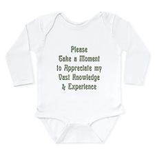 Vast Knowledge Long Sleeve Infant Bodysuit