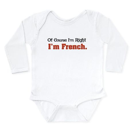 I'm French Long Sleeve Infant Bodysuit