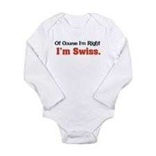 I'm Swiss Long Sleeve Infant Bodysuit