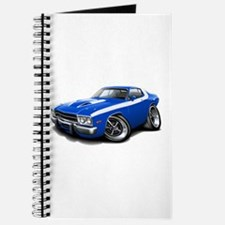 Roadrunner Blue-White Car Journal