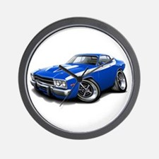 Roadrunner Blue-White Car Wall Clock
