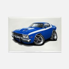 Roadrunner Blue-White Car Rectangle Magnet (10 pac