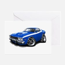 Roadrunner Blue-White Car Greeting Card