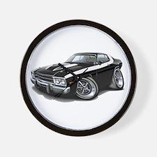 Roadrunner Black-White Car Wall Clock