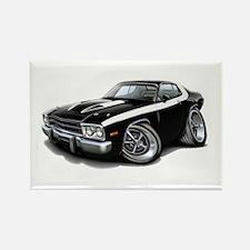 Roadrunner Black-White Car Rectangle Magnet (10 pa
