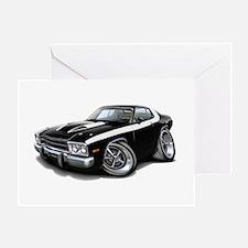 Roadrunner Black-White Car Greeting Card