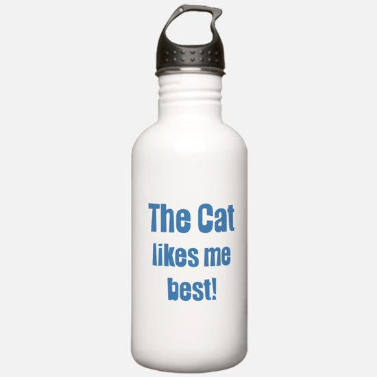 The Cat Likes Me Best Water Bottle