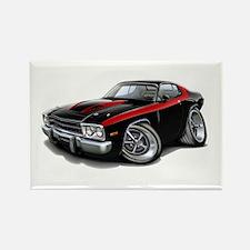 Roadrunner Black-Red Car Rectangle Magnet (10 pack
