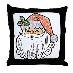 Patchwork Santa Claus Throw Pillow