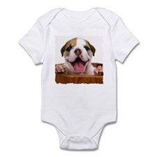 HAPPY BULLDOG PUPPY Infant Bodysuit
