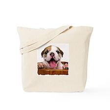 HAPPY BULLDOG PUPPY Tote Bag