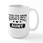 World's Best Aunt Large Mug