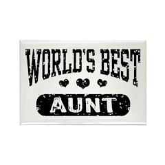 World's Best Aunt Rectangle Magnet