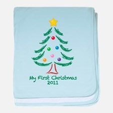 My First Christmas 2011 baby blanket