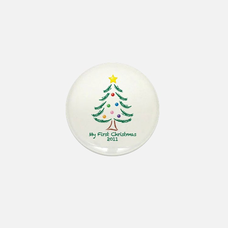 My First Christmas 2011 Mini Button