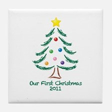 Our First Christmas 2011 Tile Coaster