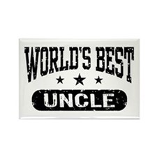 World's Best Uncle Rectangle Magnet