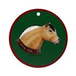 Norwegian Fjord Christmas Ornament (Round)