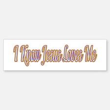 I Know Jesus Loves Me Bumper Bumper Bumper Sticker