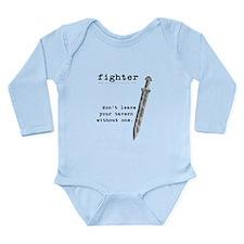 Fighter's Sword Long Sleeve Infant Bodysuit