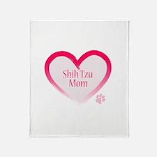 Cute Shih tzu mom Throw Blanket