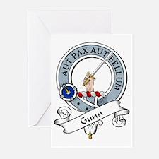 Gunn Clan Badge Greeting Cards (Pk of 10)