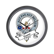 Gunn Clan Badge Wall Clock