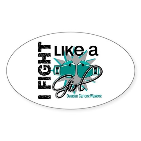 Licensed Fight Like A Girl 13 Sticker (Oval 50 pk)