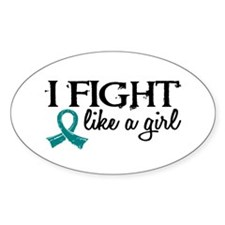 Licensed Fight Like A Girl 18.7 Ova Decal