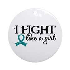 Licensed Fight Like A Girl 18.7 O Ornament (Round)