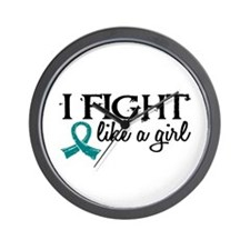Licensed Fight Like A Girl 18.7 Ovarian Wall Clock