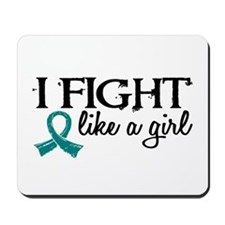 Licensed Fight Like A Girl 18.7 Ovarian Mousepad