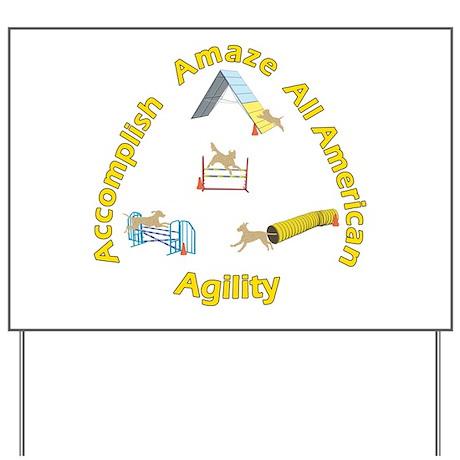Agility Mutts Yard Sign