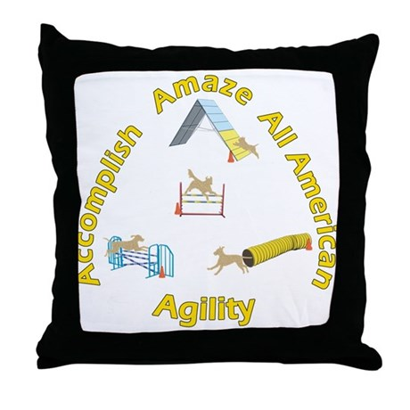 Agility Mutts Throw Pillow