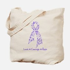 Butterfly Hodgkin's Lymphoma Tote Bag