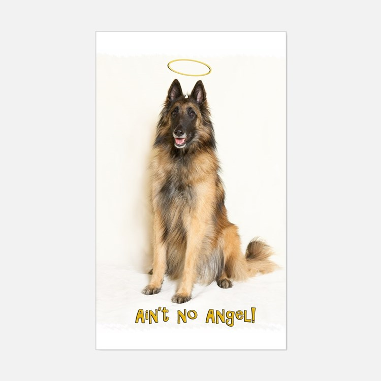No Angel Rectangle Decal