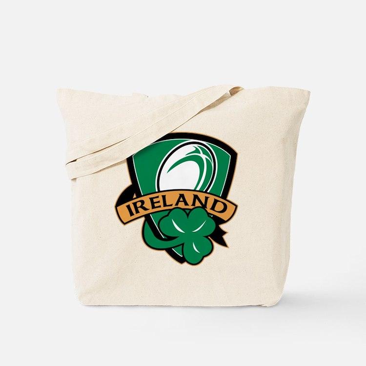 rugby ireland shamrock Tote Bag