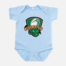 rugby ireland shamrock Infant Bodysuit