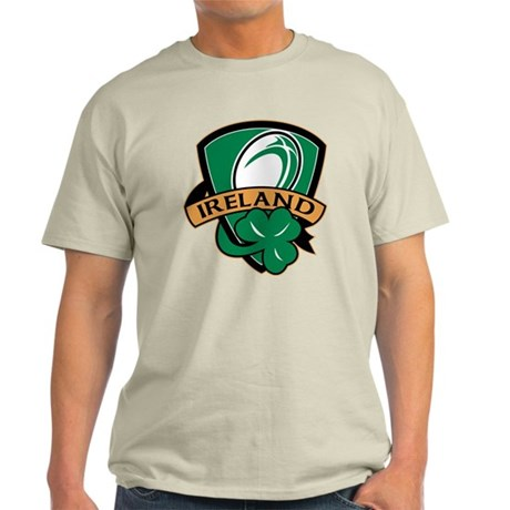 rugby ireland shamrock Light T-Shirt