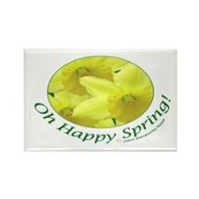 Daffodils, Oh Happy Spring Rectangle Magnet (10 pa
