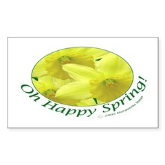 Daffodils, Oh Happy Spring Rectangle Decal