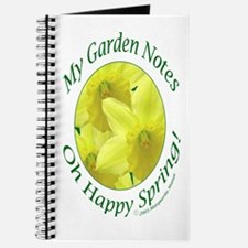 Daffodils, Oh Happy Spring, Garden Notes Journal