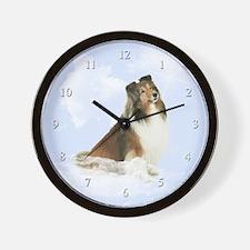 Heavenly Sheltie Wall Clock