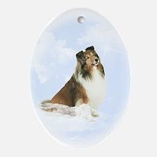 Heavenly Sheltie Ornament (Oval)