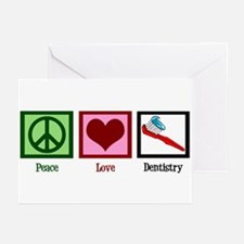 Peace Love Dentistry Greeting Cards (Pk of 20)