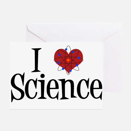 I Love Science Greeting Cards (Pk of 10)