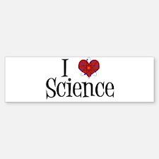 I Love Science Bumper Bumper Sticker