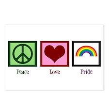 Peace Love Pride Rainbow Postcards (Package of 8)
