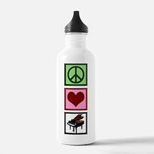 Peace Love Piano Water Bottle