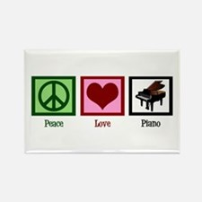 Peace Love Piano Rectangle Magnet